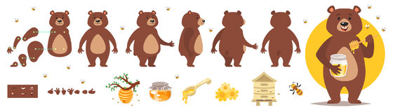 Bear character for animation Royalty Free Stock Photos