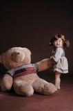 bear china draw girl teddy Στοκ φωτογραφία με δικαίωμα ελεύθερης χρήσης