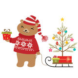 Bear Christmas tree Royalty Free Stock Photo