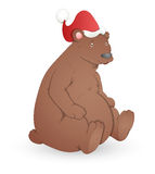 Bear - Christmas Vector Illustration Royalty Free Stock Photography