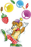 Bear clown and sweets Royalty Free Stock Images