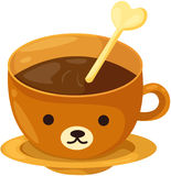 Bear coffee cup Stock Photo