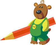 Bear color 02. Vector. Bear in color 02 stock illustration