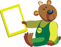 Bear color 05. Vector. Bear in color 05 royalty free illustration