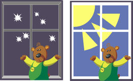 Bear color 07. Vector. Bear in color 07 royalty free illustration