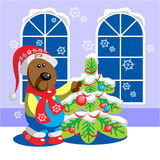 Bear color 15. Vector. Bear ready xmas color 15 Stock Image