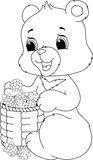 Bear coloring page Stock Images