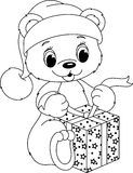 Bear coloring page Royalty Free Stock Photos