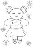 Bear coloring page Stock Photos
