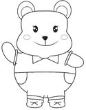 Bear coloring page Stock Photography