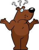 Bear Confused. A cartoon bear looking confused stock illustration