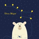 Bear connecting electrical plug constellation Ursa Major Stock Images