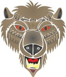 Bear rods werewolf. Bear - a contradictory symbol, he is associated simultaneously with good-natured and furious, with heroic strength and awkwardness, with Royalty Free Stock Image