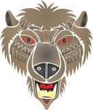 Bear rods werewolf stock illustration
