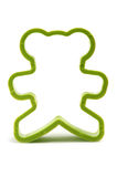 Bear cookie cutter. Plastic bear cookie cutter stock photography