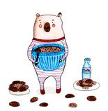 Bear with cookies stock photography