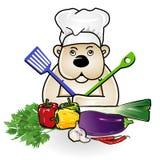 Bear at cooking royalty free illustration