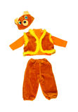 Bear costume on white background. Bear carnival suit Royalty Free Stock Photos