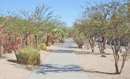 Bear Creek Trail. This is the Bear Creek Trailing running north-south in a section of La Quinta known as The Cove stock photography