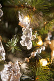 Bear crystal christmas decoration Royalty Free Stock Image