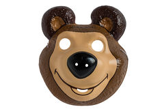 Bear cub mask Stock Photo