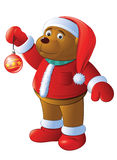 Bear-cub is in the suit of Santa Royalty Free Stock Photo
