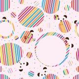 Bear cute fashion circle seamless pattern Royalty Free Stock Image