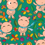 Bear cute seamless pattern Royalty Free Stock Photos