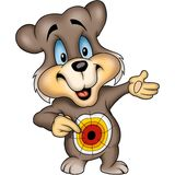 Bear with Dartboard Stock Photo