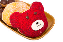 Bear delicious donuts Royalty Free Stock Image