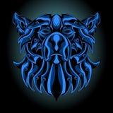 Blue iron bear stock illustration