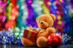 Bear doll. And decorate of new year festival Royalty Free Stock Photo