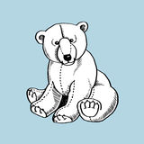 Bear Doll. This is line art, Created form my hand draw Royalty Free Stock Photography