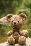 bear doll on nature background Royalty Free Stock Images