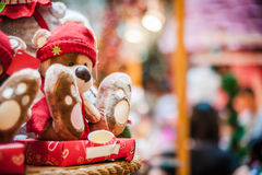 Bear doll wearing red hat Stock Photography