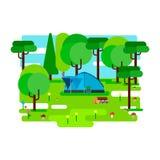The bear dozing in den. Vector illustration vector illustration