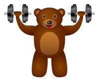 Bear dumbbel Royalty Free Stock Images