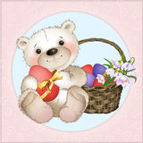 Bear with Easter eggs Royalty Free Stock Image