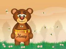 Bear eat honey Royalty Free Stock Photos