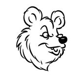 Bear Emblem contour  illustration Royalty Free Stock Photography