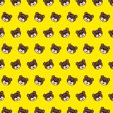 Bear - emoji pattern 43. Pattern of a emoji bear that can be used as a background, texture, prints or something else stock illustration