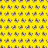 Bear - emoji pattern 69. Pattern of a emoji bear that can be used as a background, texture, prints or something else royalty free illustration