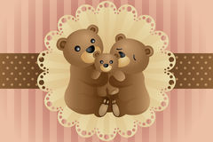Bear family hugging Stock Photo