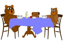 Bear family lunch Stock Image