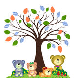 Bear family playing in the park Stock Image