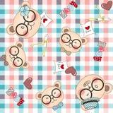 Bear family seamless pattern background Royalty Free Stock Photos