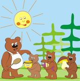 Bear family Stock Photos