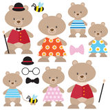 Bear family vector illustration Royalty Free Stock Image