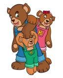 Bear family Stock Photography