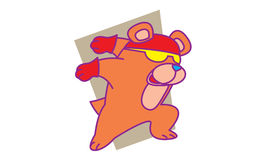 Bear fast. Illustration of bear fast a run Royalty Free Stock Images